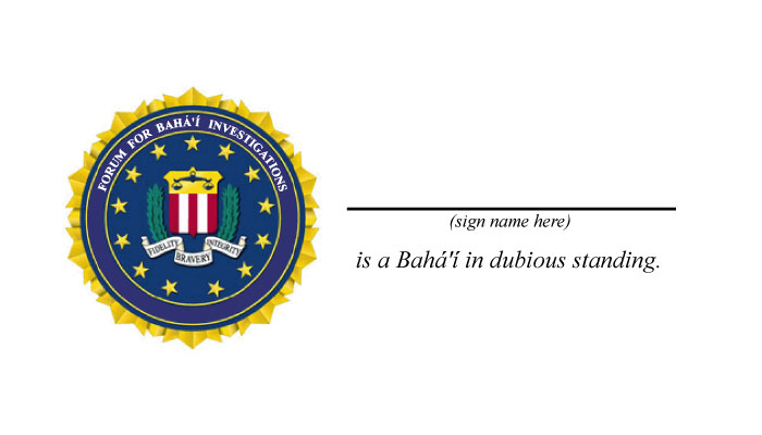 The official FBI agent card.